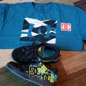 DC* set shoes, shirt and sticker